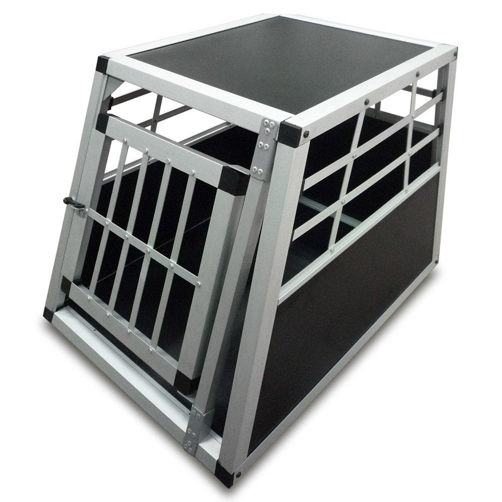 caisse alu chien finest transport cage auto box double l. Black Bedroom Furniture Sets. Home Design Ideas