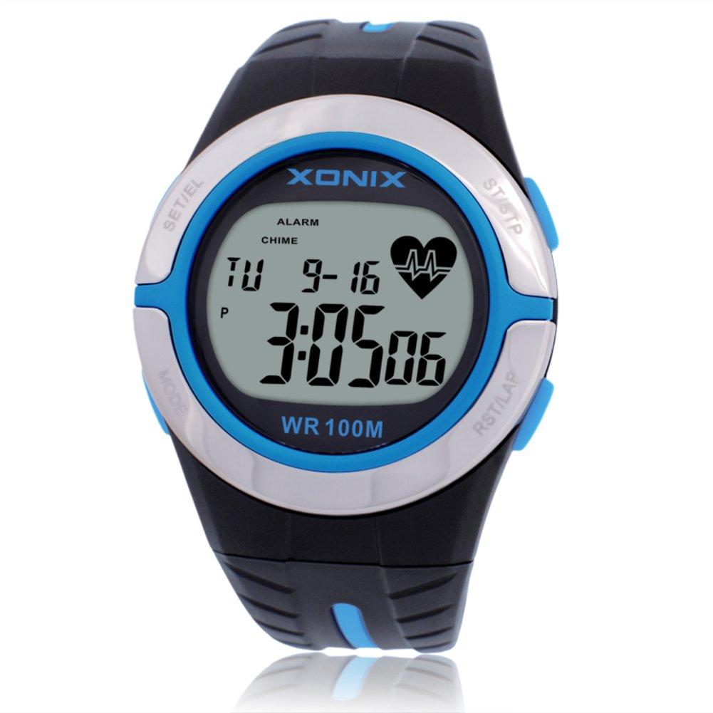 Fitness tracker tracker Watch C、ハートレートスマート多機能腕時計とCalorie B078K8J3C6 Counter監視アラートLCD画面防水デュアル時間 – C B078K8J3C6, MODESCAPE:0e209c73 --- arvoreazul.com.br