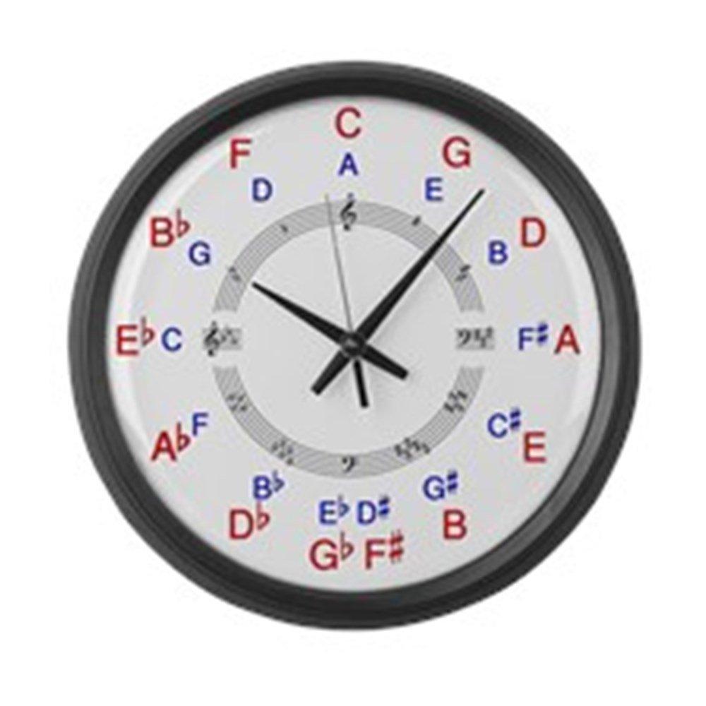 Amazoncom Cafepress Circle Of 5ths Clock Face Large 17 Round