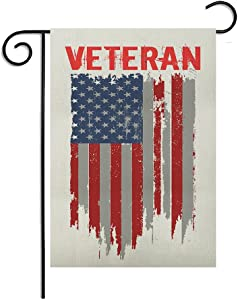 12 x18 Inches Seasonal Garden Flag American Patriotic Veteran 4th of July Indenpendece Day Memorial Day Double Sided Vibrant Printing on Both Sides Decorative House Yard Flag Garden Outdoor Decoration