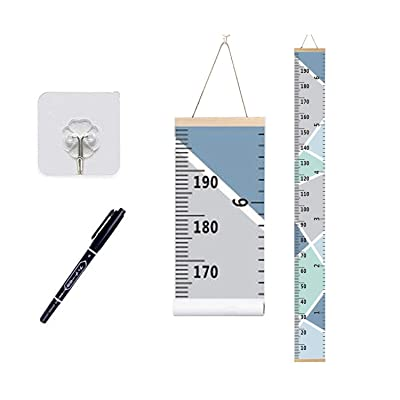 Growth Chart Wall Hanging, Portable Kids Wall Ruler Removable Height Measure Chart for Boys Girls Growth Ruler from Baby to Adult for Child's Room Decoration 79''7.9'' (Green): Baby