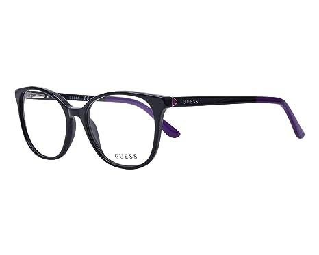 7e834fff00 Guess - Monture de lunettes - Femme Noir Schwarz - Dunkel Lila 52 ...