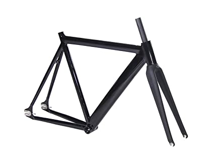 Amazon.com : Pofeng Fixed Gear Bike 54cm, Track Bike frame aluminum ...