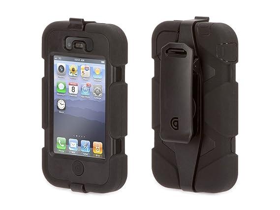 Amazon.com: Griffin GFN01902 iPhone 4 Survivor and Beltclip ...