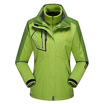 66d0f7dcce Zweiteilige abnehmbare Outdoorjacke für Damen Einfarbig Gefüttert Warm Taktische  Soft Shell Jacke Atmungsaktiv mit Kapuze Tasche