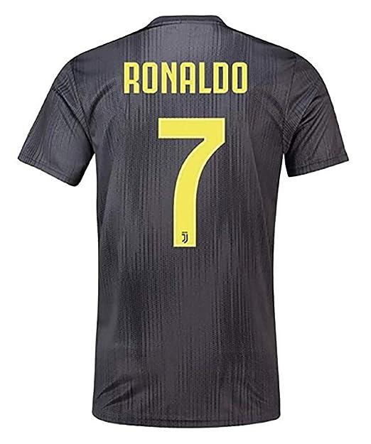 online store c5a29 9e3a6 Amazon.com: MALLKUB #7 Juventus Away Ronaldo 2018-2019 ...