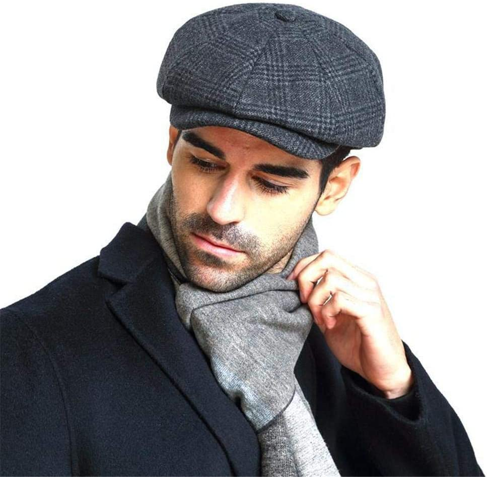Ploufer Hombres Mujeres Boinas - Wool Blend Newsboy Gorra Plana ...