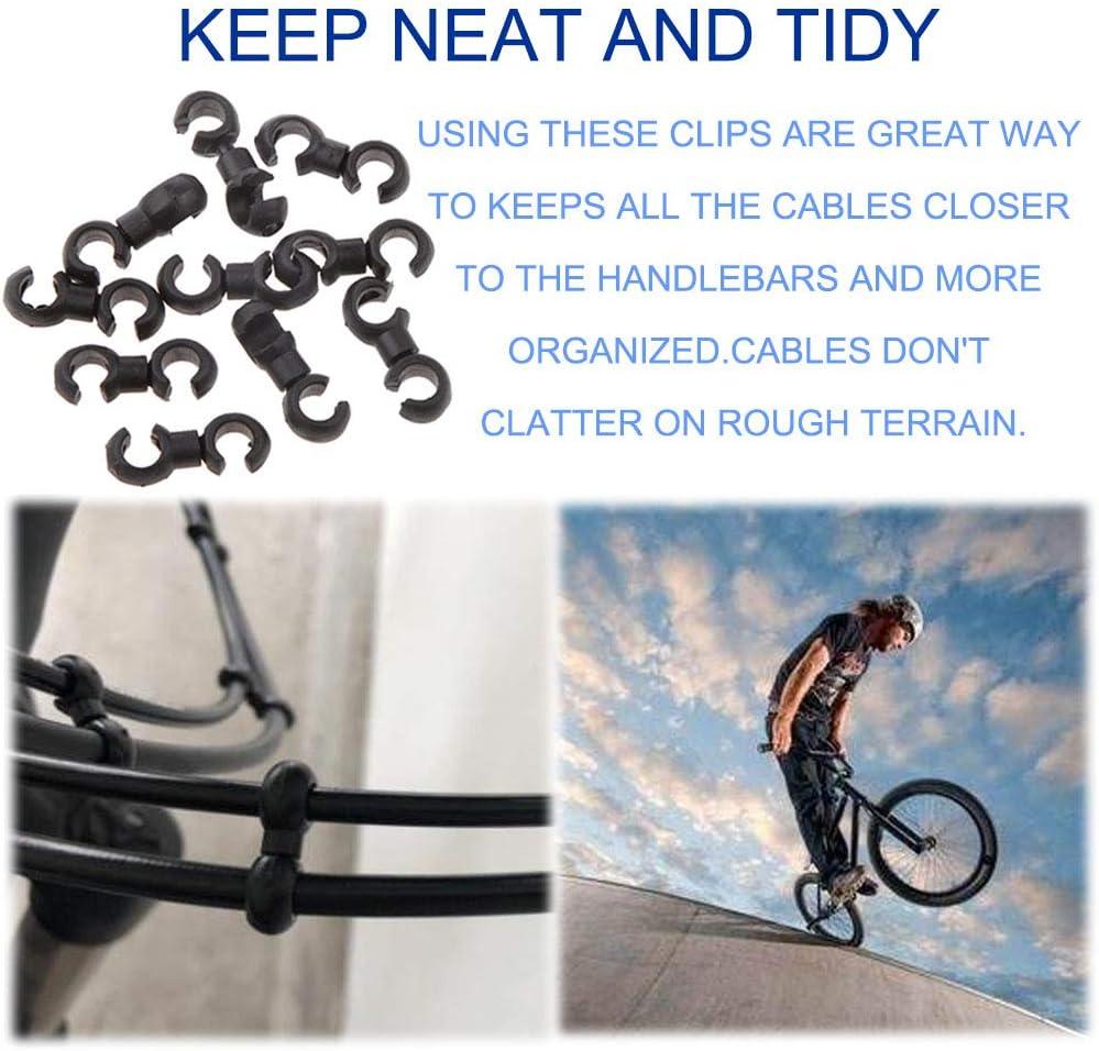 IGRMVIN 4 Cable Freno y 4 Cable Cambio Bicicleta de Acero Cable Bicicleta de 2m con 8 Terminales y 24 Donuts L/ínea de Freno de Bicicleta de Monta/ña y Carretera L/ínea de Cambio de Bicicleta