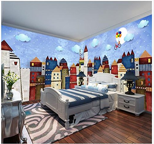 Lqwx Custom Photo Wallpaper 3D Wall Murals Wallpaper Castle House Hand-Drawn Cartoons Tv Setting Wall Murals Painting For Living Room 200Cmx140Cm