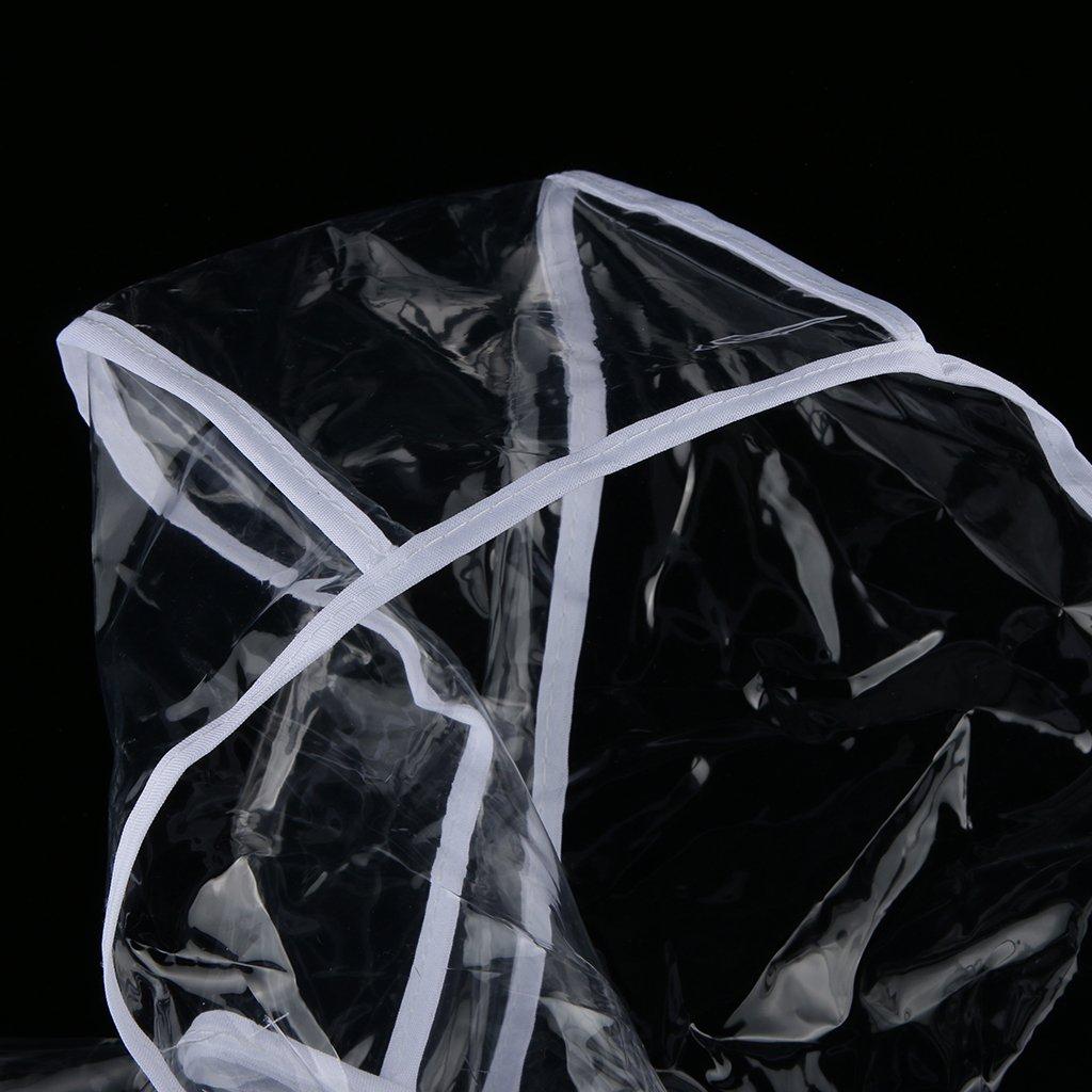 Generic Imperméable Vêtement de Pluie Poncho Veste Manteau à Capuchon Transparent pour Chiot Chien Chat - Blanc, M