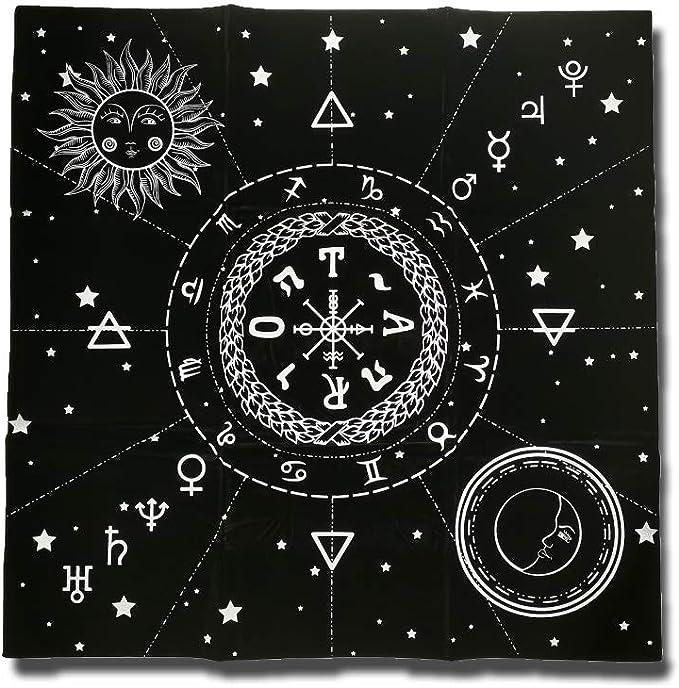 Triple Moon Goddess Pyramid Leather Runestone or Tarot Card bag