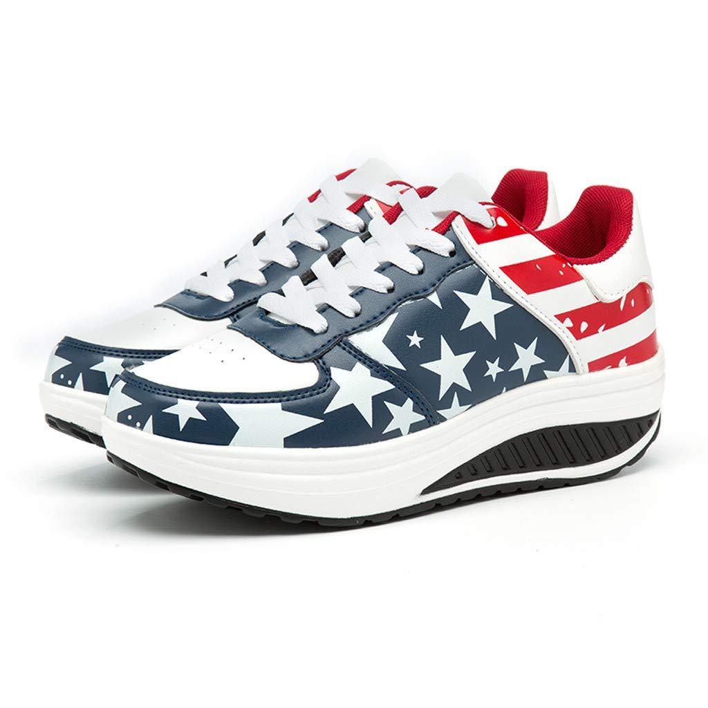 Women's Running Sneaker ◆◆HebeTop◆◆ Lightweight Go Easy Walking Running Shoes Rose Floral Print