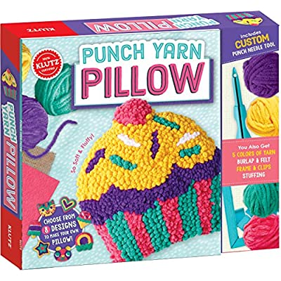 Klutz Punch Yarn Pillow Sewing & Craft Kit: Klutz: Toys & Games