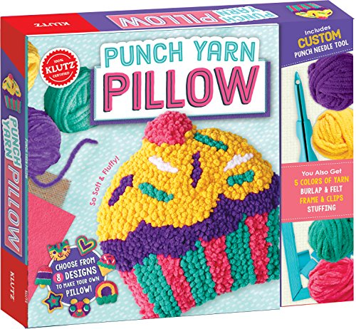 KLUTZ Punch Yarn Pillow Arts and Craft Kit