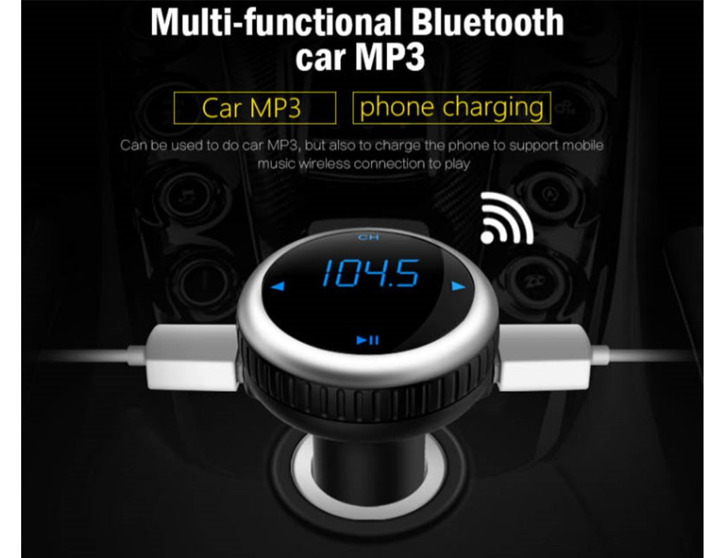 Samsung Galaxy Pixel 2 XL LG Stylo 3 2+ V30 V20 Bluetooth FM Transmitter for Car Wireless Radio Transmitter for Music MP3 Player with Hands free Calls for iPhone Android Cell Phone iPad iPod