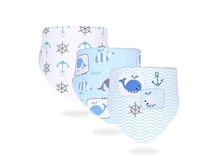 FOOBRTOPOO 3 piezas bebé lindo bebé saliva toallas bebé baberos baberos Drool para bebés (patrón