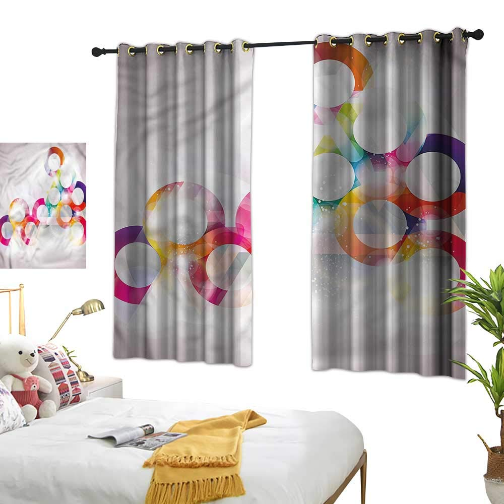 Amazon.com: Double Curtain Rod Abstract,Disc Shapes Circles ...