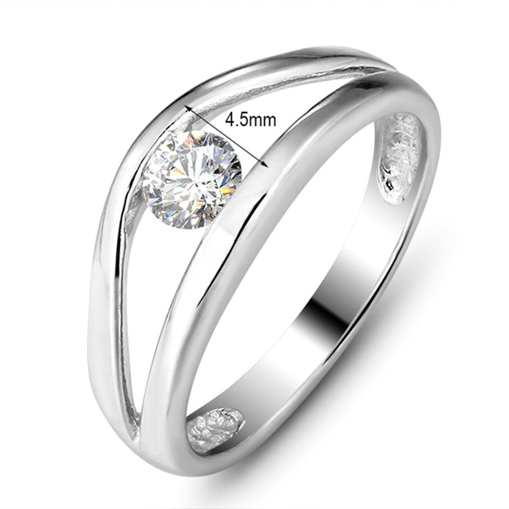 Daesar Silver Plated Rings for Womens Cubic Zirconia Ring Eternity Rings Size:7