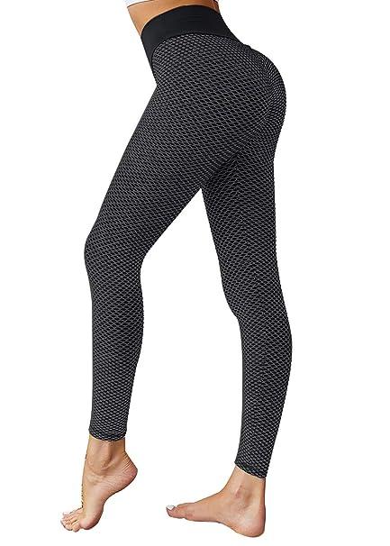 Amazon.com: VNVNE pantalones de yoga de cintura alta para ...
