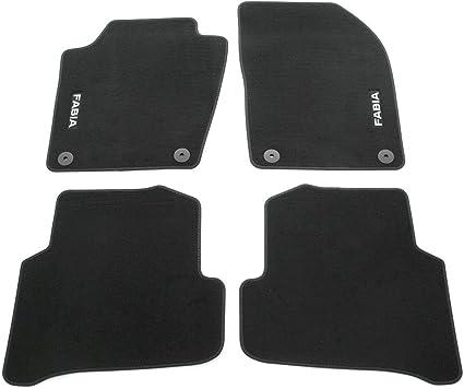 Skoda 6v1061404 Prestige Textil Fußmatten Satz Premium Velours 4x Stoffmatten Schwarz Mit Fabia Schriftzug Auto