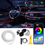 Car LED Strip Lights, LEDCARE Multicolor RGB Car Interior Lights, 16 Million Colors 5 in 1 with 236 inches Fiber Optic…