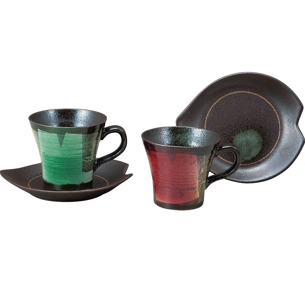 Amazon 九谷焼 ペア コーヒーカップ 銀彩 カップ&ソーサー オンライン通販