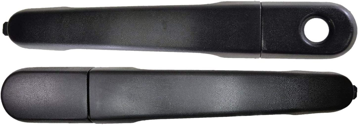 Textured Black PT Auto Warehouse FO-3343A-FRK Left = Right without Keyhole Front Outside Exterior Outer Door Handle
