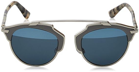 b354e971b6520c Dior Lunettes de soleil Dior So Real Pour Femme Palladium   Tortoise   Dark  Grey   Silver Mirror Band  Amazon.fr  Vêtements et accessoires