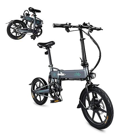Olodui1 Bicicleta Eléctrica Plegable Rueda de 16 Pulgadas 250W ...