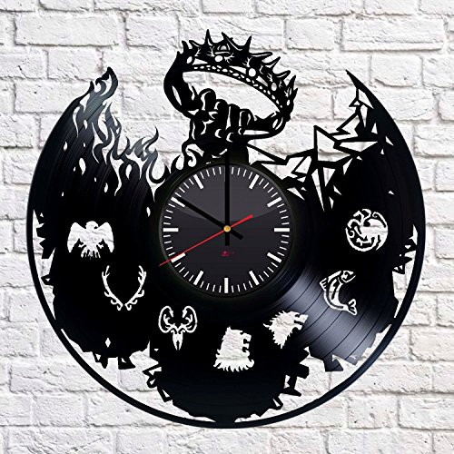 Fantasy Drama Handmade Vinyl Record Wall Clock - Get unique home room wall decor - Gift ideas for parents, teens – Epic Movie Unique Modern Art