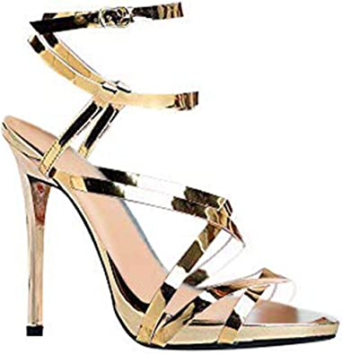 ZooShoo Womens Ankle Strap High Heel
