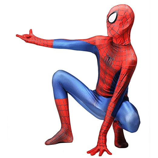 CVFDGETS Disfraz Infantil Halloween Spiderman,Traje Elástico ...