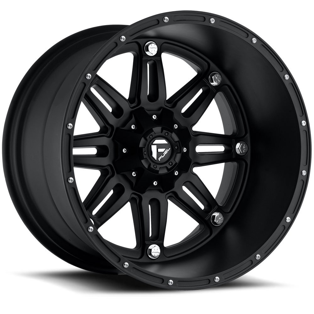 20 x 10. inches //6 x 135 mm, -12 mm Offset Fuel Hostage black Wheel with Painted Finish