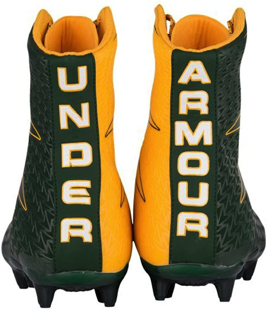 Under Armour UA Highlight MC Mens Green Gold Football Cleats 11 US