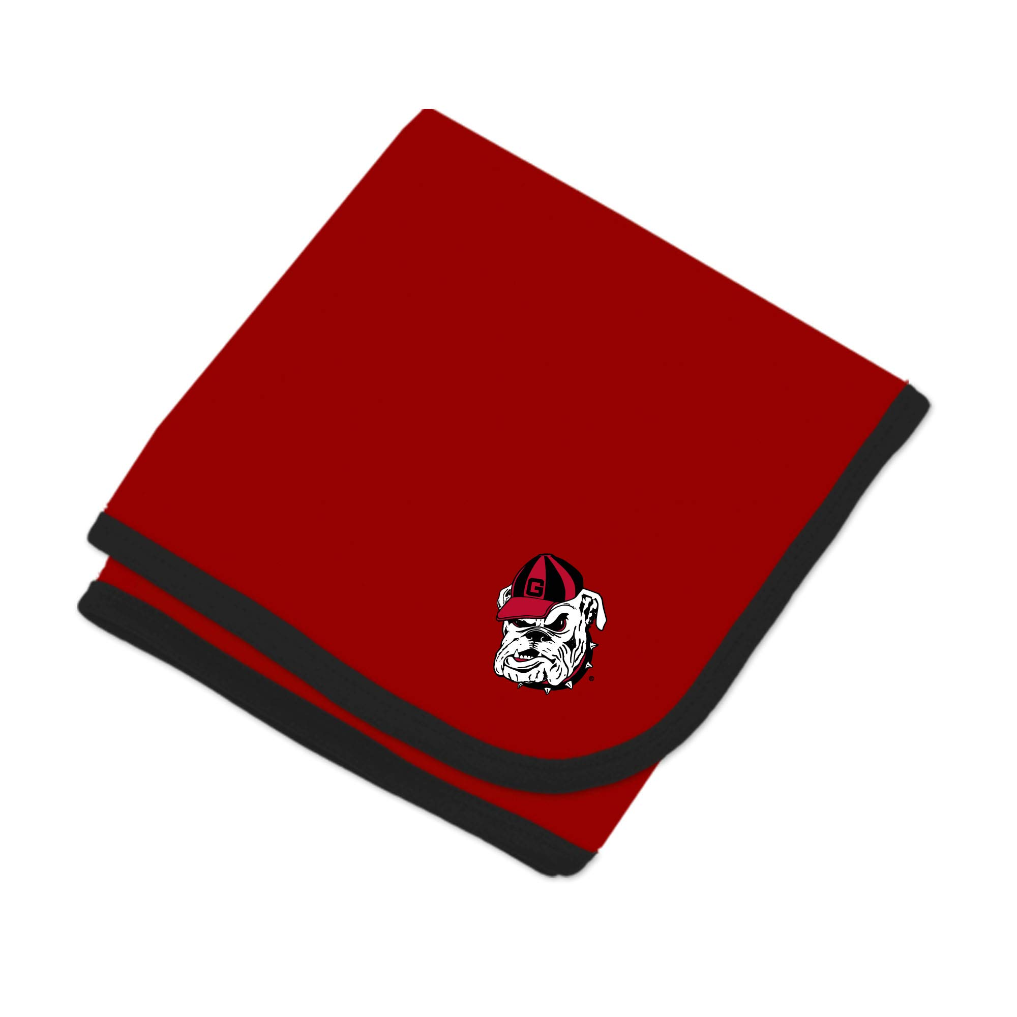 Georgia Bulldogs NCAA Baby Newborn Infant One Size 30'' X 35'' Baby Blanket Red,Black by Two Feet Ahead