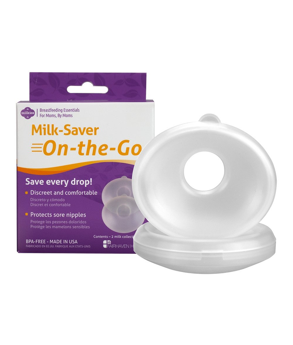 Milkies On-The-Go Breast Shells – Collects Leaking Breast Milk and Protects Sore Nipples