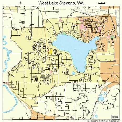 Lake Stevens Washington Map.Amazon Com Large Street Road Map Of West Lake Stevens Washington