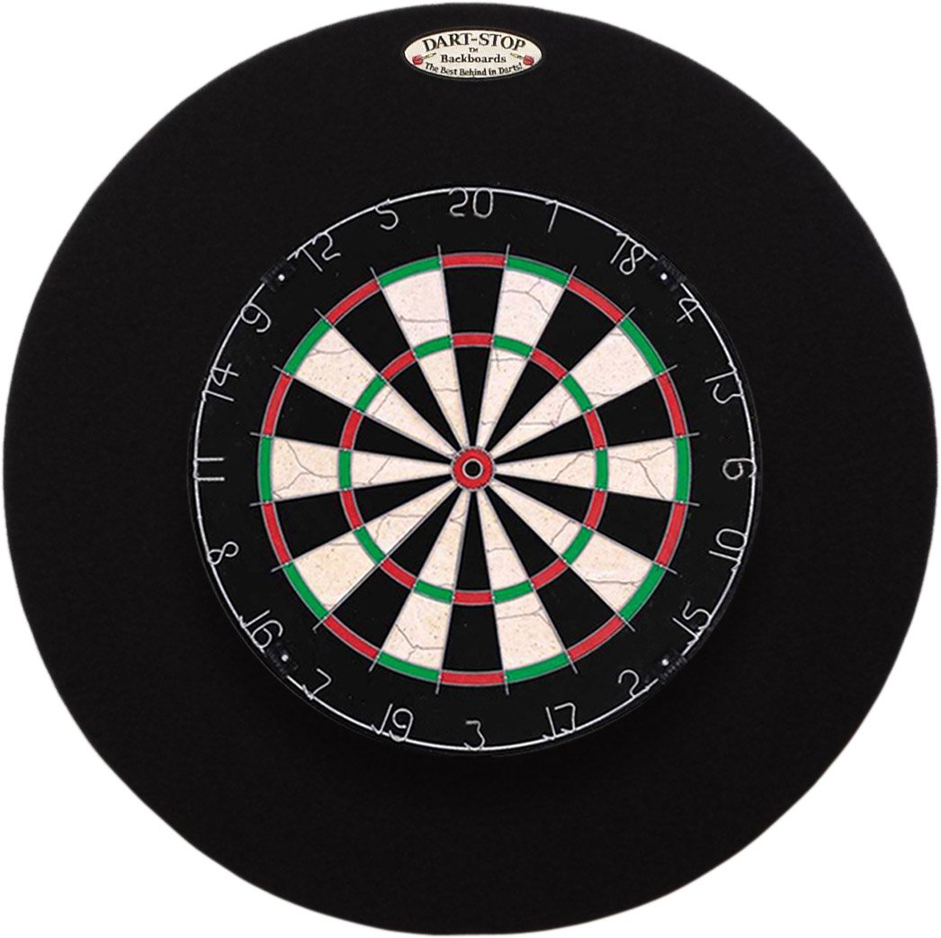 29'' Professional Dartboard Backboard, Round (Black) by Dart-Stop
