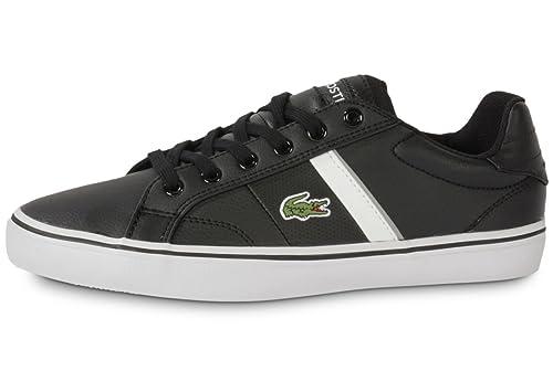 Lacoste - Zapatillas para niño multicolor negro y gris: Amazon.es: Zapatos y complementos