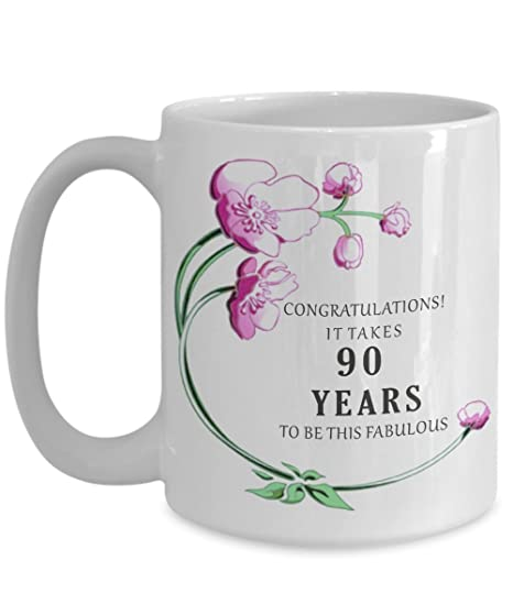 Image Unavailable Not Available For Color 90th Birthday Gift Idea Mug