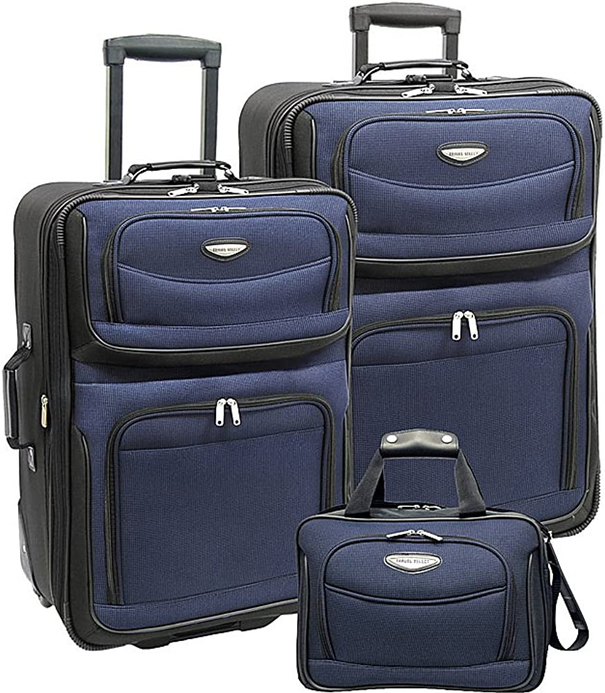 Travelers Choice Amsterdam 3-Piece Upright Luggage Set