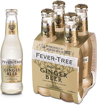 Fever Tree Fever Tree Premium Ginger Beer Pack de 4 Botellas 20cl: Amazon.es: Alimentación y bebidas