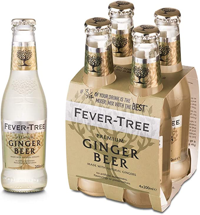 Fever Tree Fever Tree Premium Ginger Beer, 4 x 20cl: Amazon ...