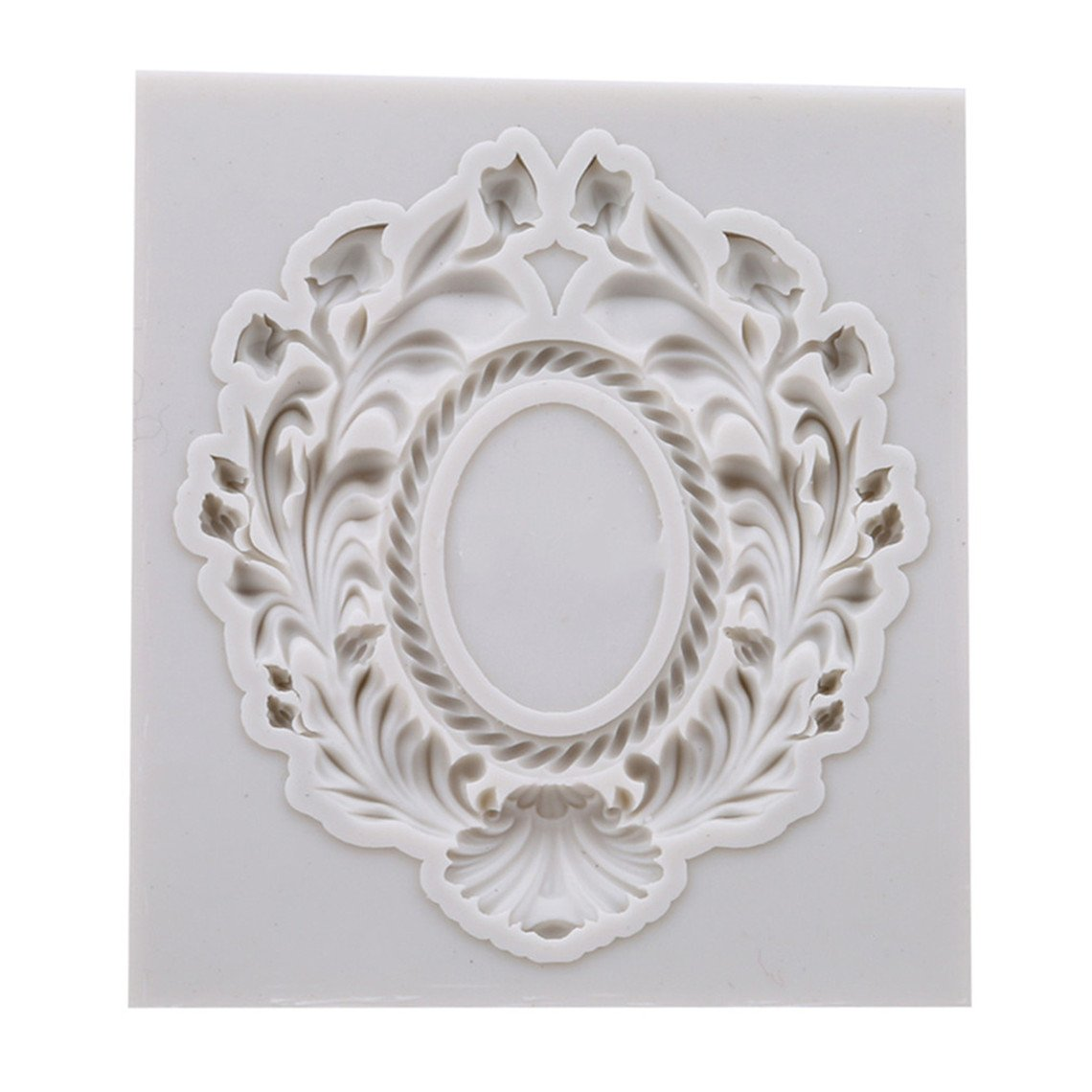 Rurah Photo Frame Fondant Mold Vintage Photo Frame Silicone Cake Mould DIY Mold Silicone Mould for Cake Decorating,3#