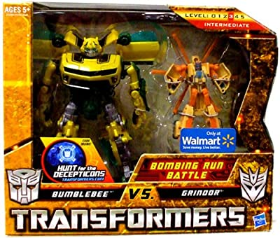 Transformers Hunt for the Decepticons Exclusive Deluxe Action Figure 2Pack Bombing Run Battle Bumblebee vs. Grindor