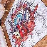 (OSJ)ラグ カーペット ラグマット 絨毯 マイクロファイバー ラグ 滑り止め 洗える ウォッシャブル ホットカーペット対応 フロアマット チェアマット モダンラグ 200X250cm 6色選べる (ブラック)