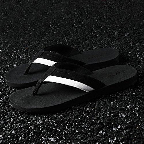 AIHUWAI Sandals Men Sandals Slippers Male Summer Flip-Flops Student Slip Soft Bottom Wear Casual Sandals Black
