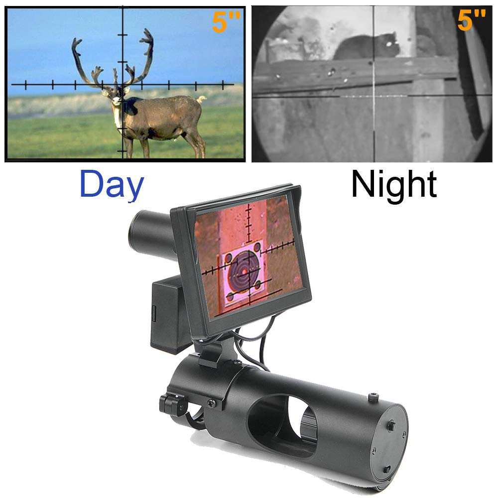 Digital Night Vision Scope for Rifle Hunting with Camera and 5'' Portable Display Screen by bestsight