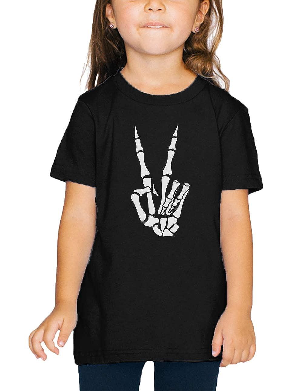 SpiritForged Apparel Skeleton Peace Hand Toddler T-Shirt
