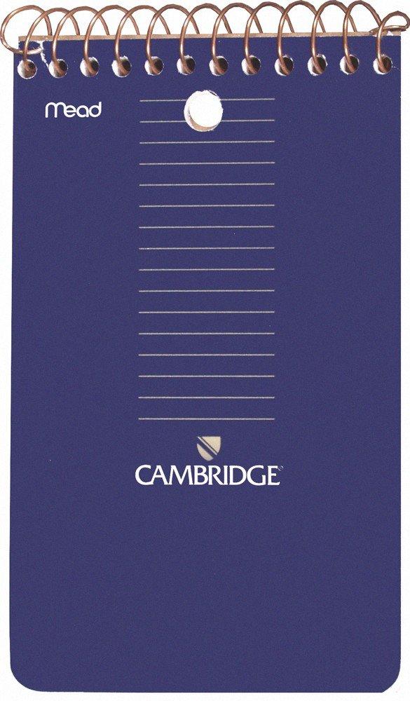 Mead Cambridge 3 x 5-Inch Wirebound Memo Book, Black, 70 sheets, 12 Pack (45755)